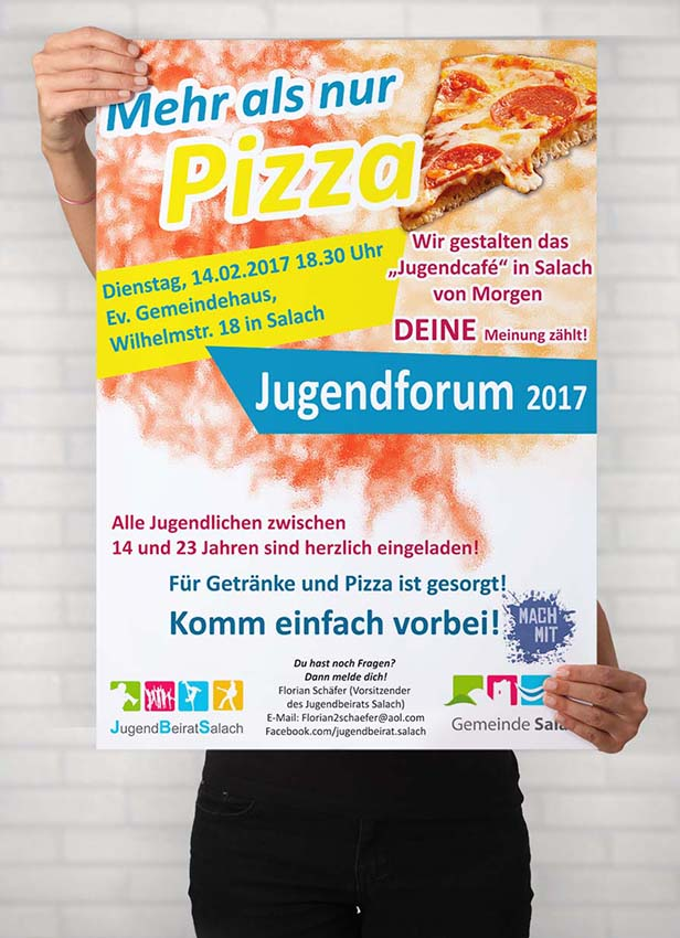 Plakate und Flyer Jugendforum 2017