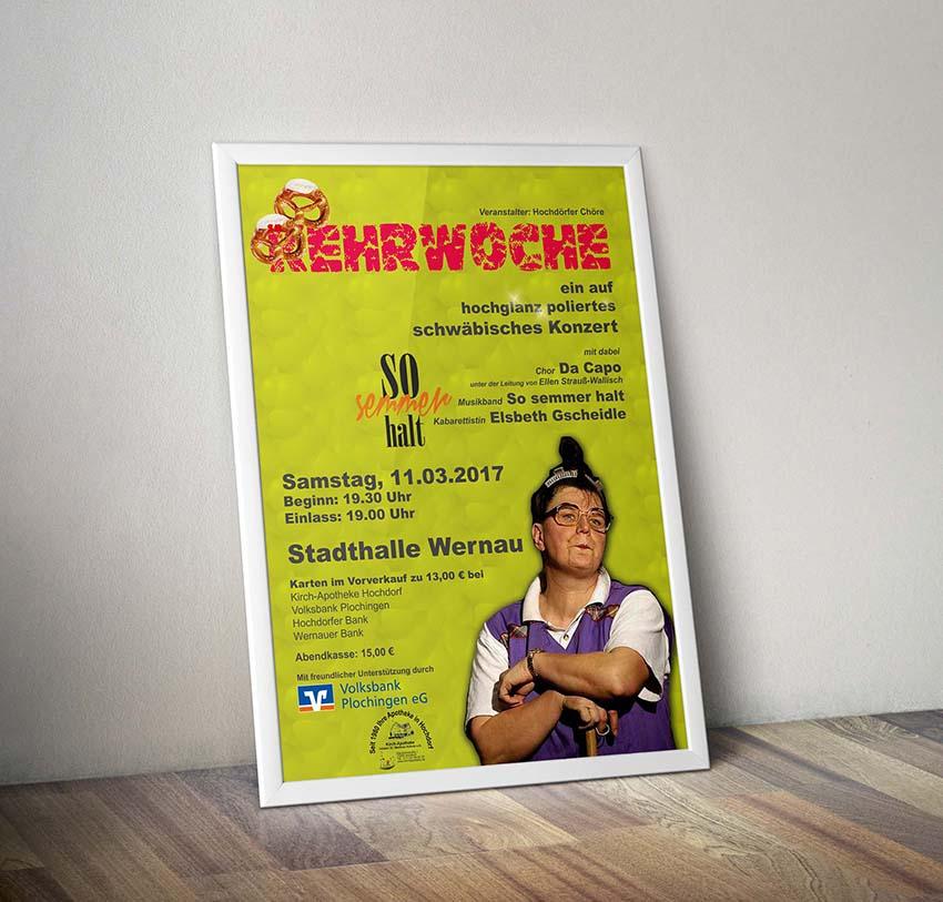 Plakate, Flyer und Eintrittskarten für Konzertveranstaltung